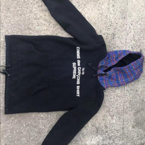 99e66833 Supreme Shirts   Cdg X Plaid Hoodie Size L Fit Like M   Poshmark